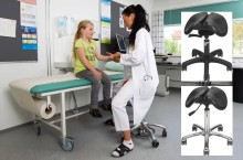 Salli at Medica 13.-16.11.2017: new saddle chair with a smaller seat