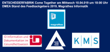 Come Together am DMEA Stand des ENTSCHEIDERFABRIK Feedbackgebers 2019, Magrathea Informatik