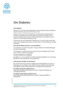 Ingen lyxsjukdom - fakta om diabetes