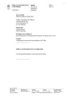 Göteborg FR 3025-15 Dom 2015-09-23