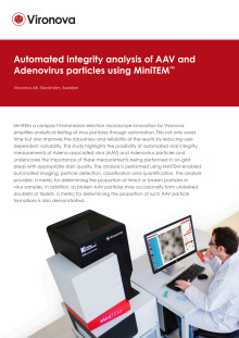 Automated integrity analysis of AAV and Adenovirus particles using MiniTEM™ (white paper)