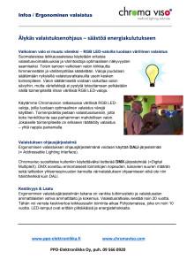 Älykäs valaistus - säästöä energiankulutukseen