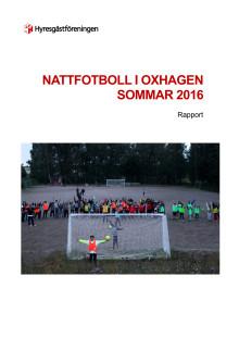 Slutrapport Nattfotbollen i Oxhagen