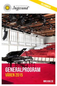 Generalprogram 2015 Musikhögskolan Ingesund