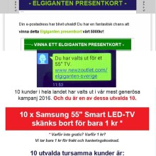 Elgiganten varnar för falska erbjudanden via e-post och sms
