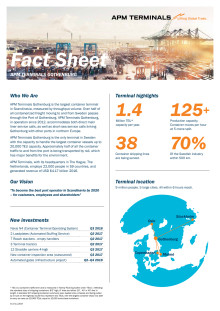APM Terminals Gothenburg - Fact Sheet 2017