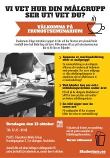 Välkomna på frukostseminarium hos Studentum.se i Stockholm