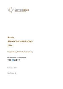 Service-Champions 2014 Studie