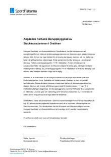 Angående Fortums återuppbyggnad av Stackmoradammen i Oreälven