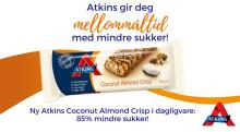 Atkins gir deg mellommåltid med mindre sukker!