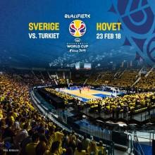 Sverige mot Turkiet på Hovet - ny basketfest i februari
