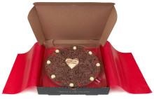 Romantisk sjokoladepizza til Valentine!