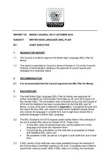 Moray BSL Plan