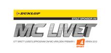 Dunlop stolt sponsor i TV4 Sports nya satsning MC-livet