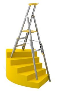 Ny profftrapp 77S fra Wibe Ladders - perfekt for arbeid i trapper