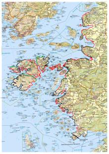 Karta över Kungälvs numrerade områden.