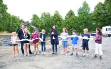 Første spadetak på Slemdal skole