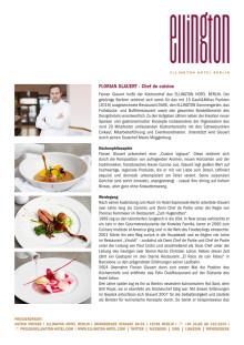 CV: Florian Glauert - Chef de cuisine