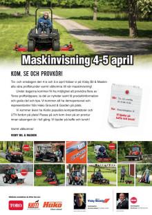 Maskinvisning 4-5 april i Visby