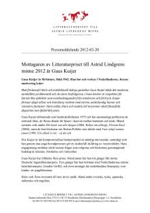 Pressmeddelande: Guus Kuijer sv