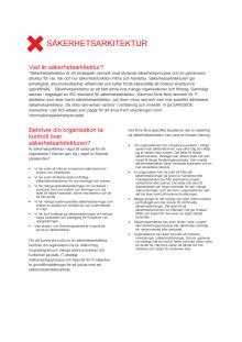 Informationssäkerhetsarkitektur enligt SAFESIDE