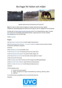 Program för seminarum om hästhagar
