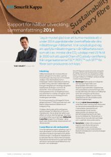 Rapport för hållbar utveckling, sammanfattning 2014