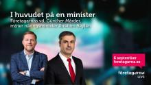 I huvudet på en minister – näringsminister Ibrahim Baylan i Företagarna LIVE