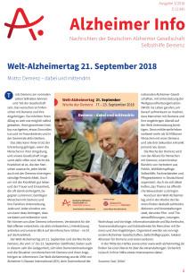 Alzheimer Info 3/2018: Welt-Alzheimertag und Prävention von Demenzerkrankungen
