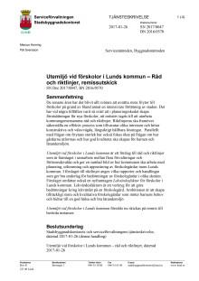 Tjänsteskrivelse Råd och riktlinjer, 170216