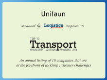 "Unifaun in the ""Top 10 Transport Management Solution Providers - 2018""-list!"
