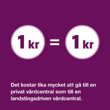 Vårdföretagarnas mytkalender: Alla har inte råd att gå till en privat vårdcentral (myt 22)