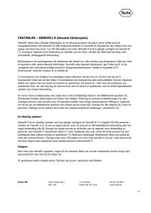 Faktablad – Hemofili A (klassisk blödarsjuka)
