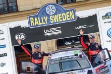 Hyundais Haydon Paddon kom tvåa i Rally Sweden