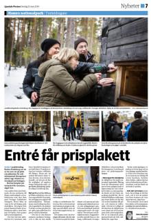 Entré får prisplakett, Ljusdalsposten 12 mars 2014