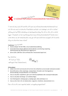 SAFESIDE söker Sveriges trevligaste informationssäkerhetskonsulter