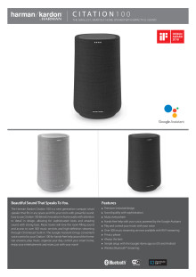 Harman Kardon Citation 100_Spec sheet