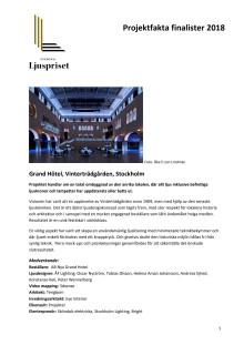 Projektfakta om finalisterna i tävlingen Svenska Ljuspriset