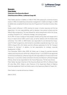 Biography Peter Gerber - CEO Lufthansa Cargo (English)