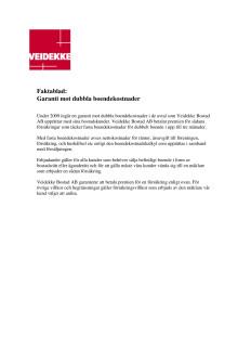 Faktablad - Garanti mot dubbla boendekostnader