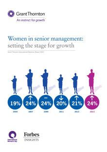 Ny internationell rapport om kvinnor i högsta ledningen