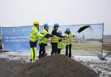 Första spadtaget för nya vattentornet i Helsingborg