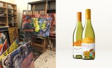 Konstnären David Bromley sätter sin prägel på Lindeman's viner