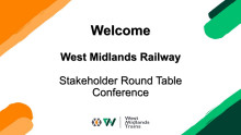 WMR Stakeholder Conference 2020 - Slide Deck
