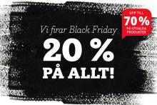 Adlibris ställer till med bokfest på Black Friday med 20% rabatt på hela sortimentet!
