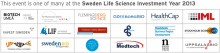 SwedenBIO initiative: Sweden Life Science Investment Year 2013—a joint venture