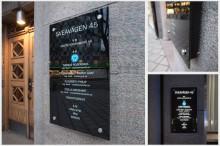 Glasskyltar en lysande skyltmodell för fastighetsskyltar, logotypskyltar eller rena företagsskyltar - Från Clarex