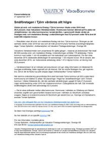 Värdebarometern 2017 Tjörns kommun