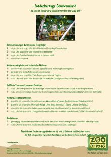 Entdeckertage Gondwanaland 2018 im Zoo Leipzig