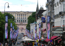 Main street Oslo dressed for the EuroPride Party